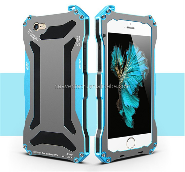 "Factory price original Gundam II Mobile Phone Cases for iPhone 6 4.7"", Aluminum Alloy Metal Case Cover for Apple iPhone 6"