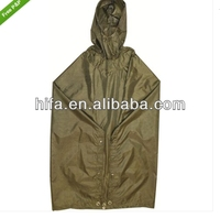 army green waterproof ripstop poncho