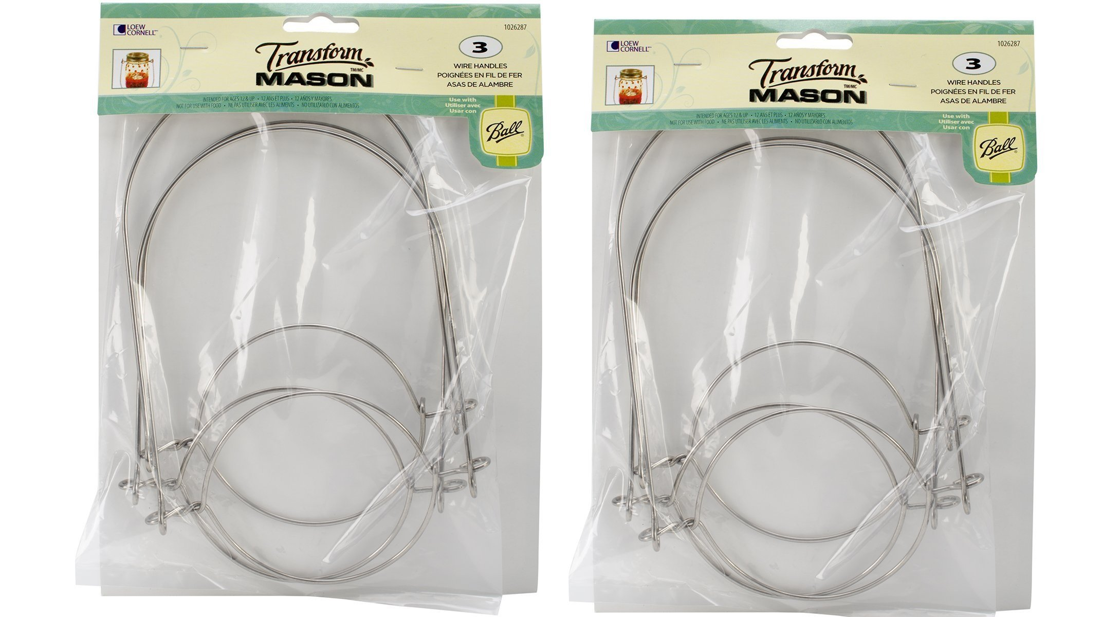 Loew-Cornell Mason Ball Jar Wire Handles (Handle-Ease), 2 - 3-Packs (Total 6)