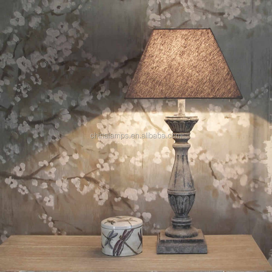 Downlight Cement Concrete Base Led Table Lamp With Metal Lampshade ...