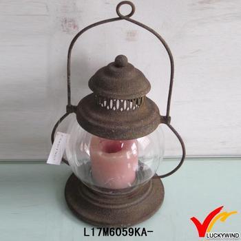 Antique Mini Tealight Hurricane Candle Lantern
