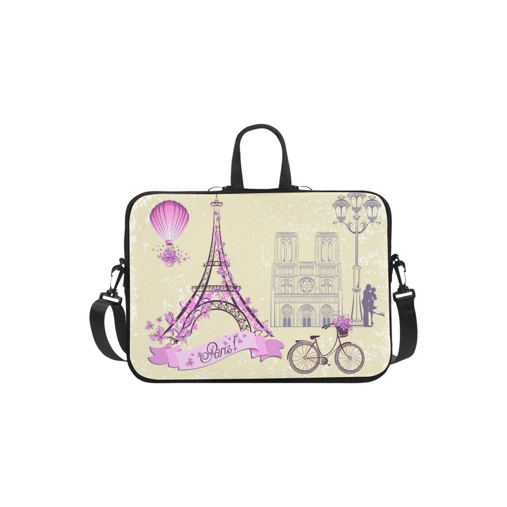 "InterestPrint Classic Personalized Eiffel Tower Bike Paris Cityscape 13"" - 13.3"" /Macbook Pro Air 13 Inch Laptop Sleeve Case Bags Skin Cover for Lenovo, GW, Acer, Asus, Dell, Hp, Sony, Toshiba"