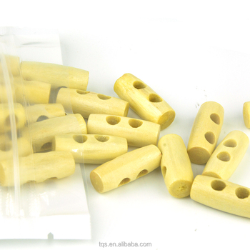 50Pcs/bag 25mm Custom Natural Wood Toggle Horn Buttons For Coat