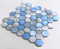 demax durable skid resistance fish scale mixed color mosaic tile,irregular glass mosaic