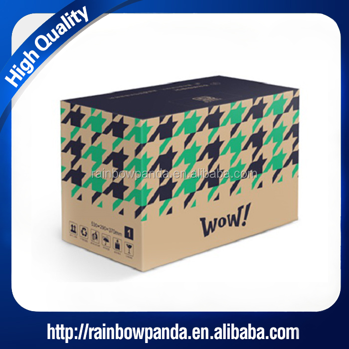 color printed corrugated kraft cardboard heavy duty shipping box
