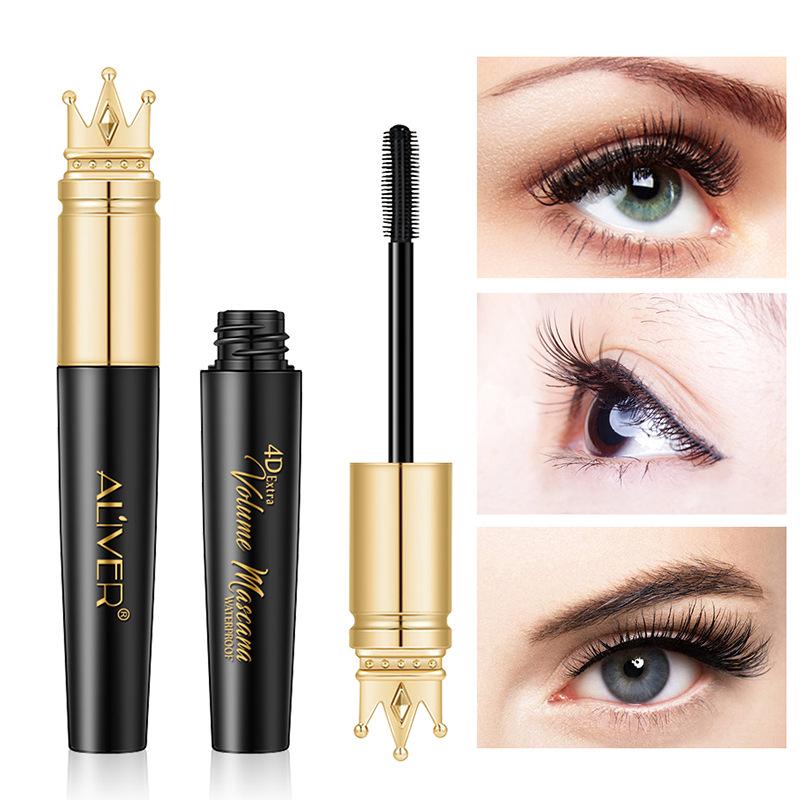 502f761083a ALIVER Eyelash Fashon Makeup Waterproof 4D Extra Volume Crown Mascara