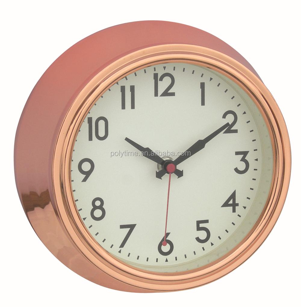 Home Goods Clocks: Fasional Hall Way Metal Wall Clock Rose Gold