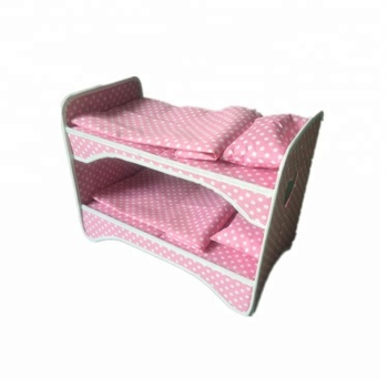 Hot Sale Dollhouse Miniature Pink Toy Doll Furniture Bunk Bed Buy