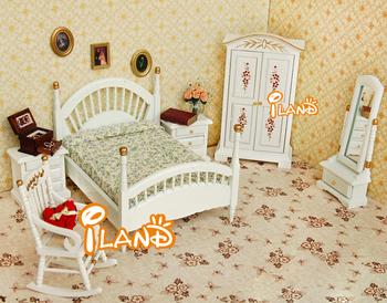 Dollhouse Bedroom White Bedroom Set 6 Wb059b Buy Doll