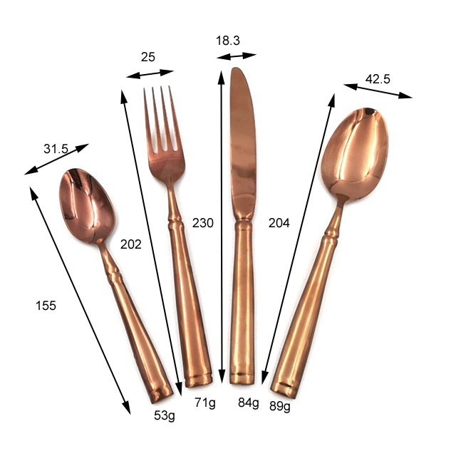 Copper Color 18 10 Stainless Steel Silverware Flatware