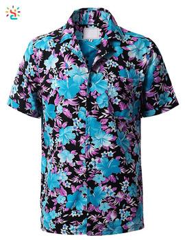 dffb223a12fd Wholesale men floral shirt mens hawaiian shirts short sleeve button down  tropical casual shirt custom