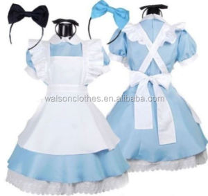 INSTYLES Adult Alice in Wonderland Costume Cosplay Women Girl Maid lolita dress