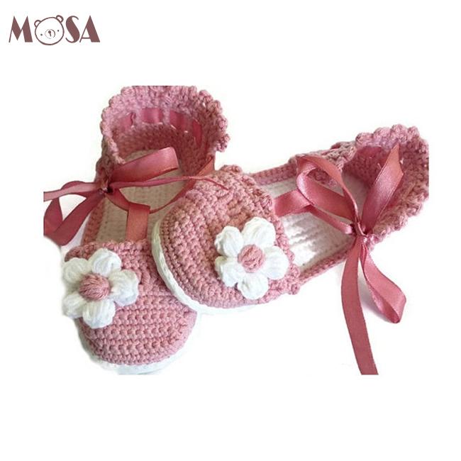 Baby Sandalen Häkeln Kleinkind Mädchen Sommer Schuhe In Rosa Und