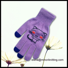 Personalized Men Women Smart Phone Tablet Winter Knit Warmer Touch Mittens Custom Logo iphone gloves