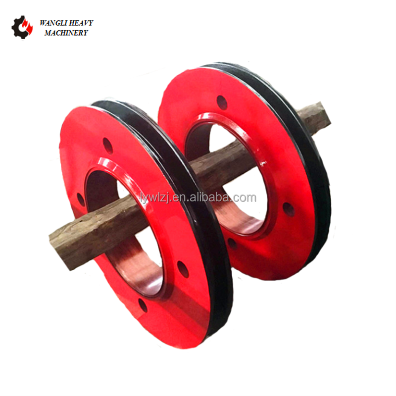 Ad alta Resistenza E Resistente All'usura Grande Forgiatura Acciaio Fune Pulley Wheel