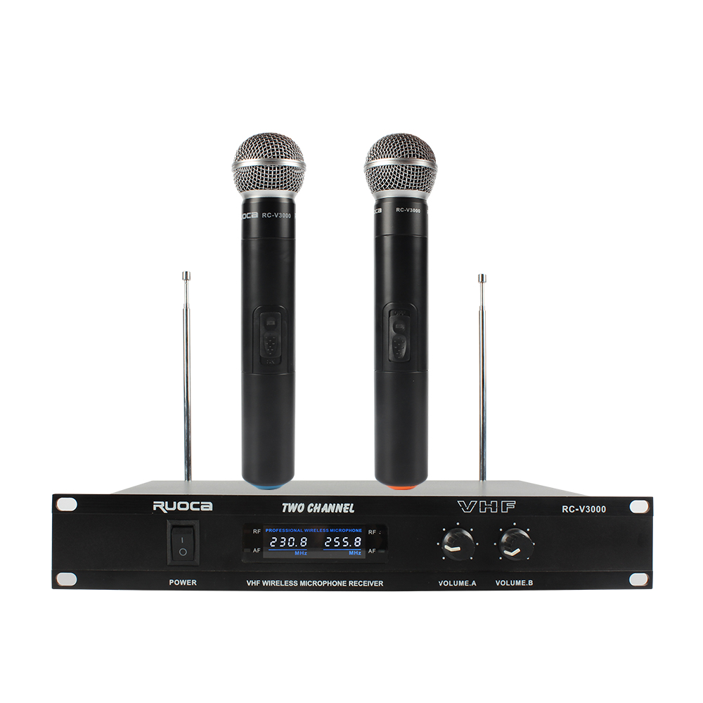 RC-V3000 UHF professional wireless microphone with microphone receiver