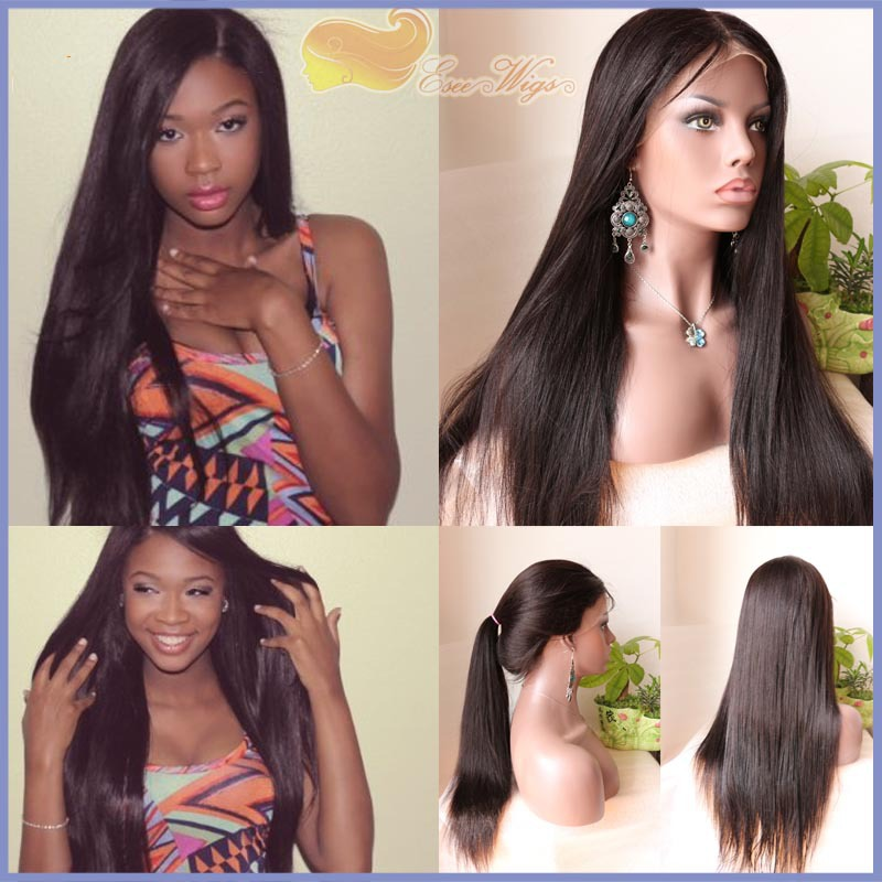 High density 100 virgin human hair lace front wigs Brazilian virgin human hair wigs with babyhair