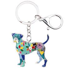Брелок для ключей Bonsny, эмалированный сплав, боксер для собак, модные украшения для женщин, брелок для ключей, сувенирные аксессуары, сумка-бр...(Китай)