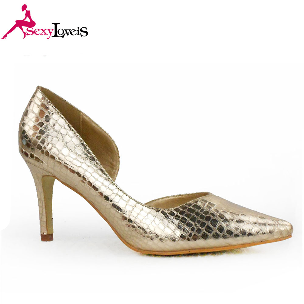 0327417e67af7 اللباس الذهب قلم رصاص عالية كعب أحذية للسيدات مع 7 سنتيمتر--معرف ...