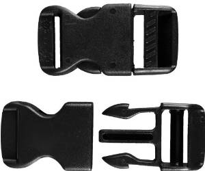 A&R Goalie Pad Plastic Replacement Clip Pair - 1.5 in