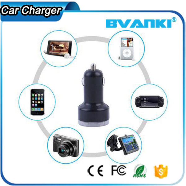 Universal Remote Control Durable Dual USB Travel Plug In USB Charger For Android QC 2.0 Wall Charger To Car Charger