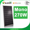 Best price high efficiency pv solar panel 270w mono with TUV,CE,ICE certificates