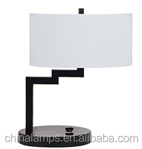 Pacific Coast Brushed Steel& Black Lamp With Outlet And Swing-arm ...