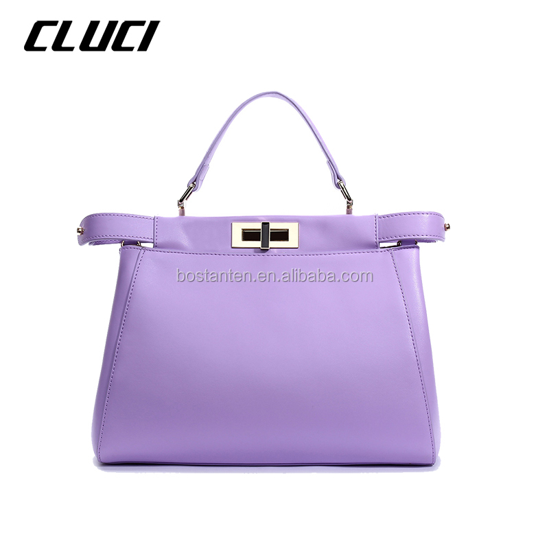 customized logo genuine leather bags women handbag European style