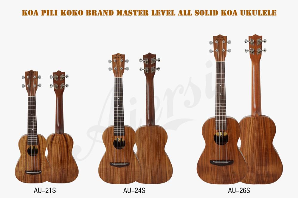 थोक मूल्य कोआ pili koko सभी ठोस कोआ लकड़ी छोटे गिटार पेशेवर गिटार