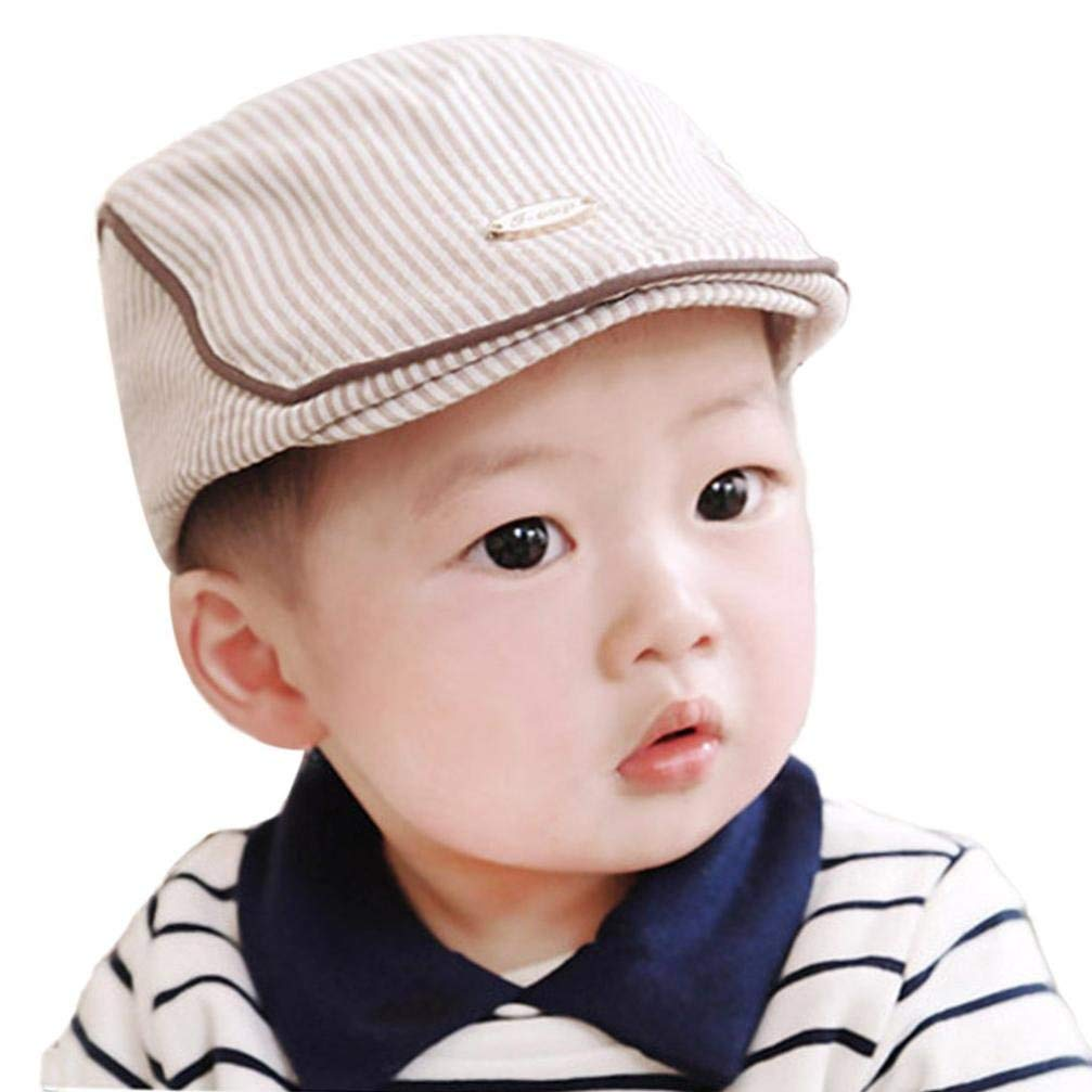 Molyveva Cute Baby Baseball Hat Infant Boy Girl Stripe Beret Cap