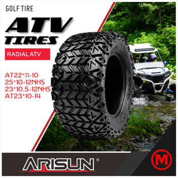 ARISUN BRAND New Chinese Factory GOLF TYRES made in china UTV Radial ATV TIRES