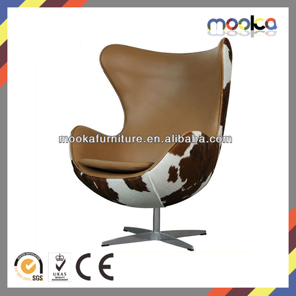 replica Arne Jacobsen cow hide egg chair MKF37LC