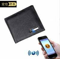 Premium Quality Genuine Leather Smart Tracking Alarm Safety Anti theft Anti Lost Bifold Wallet