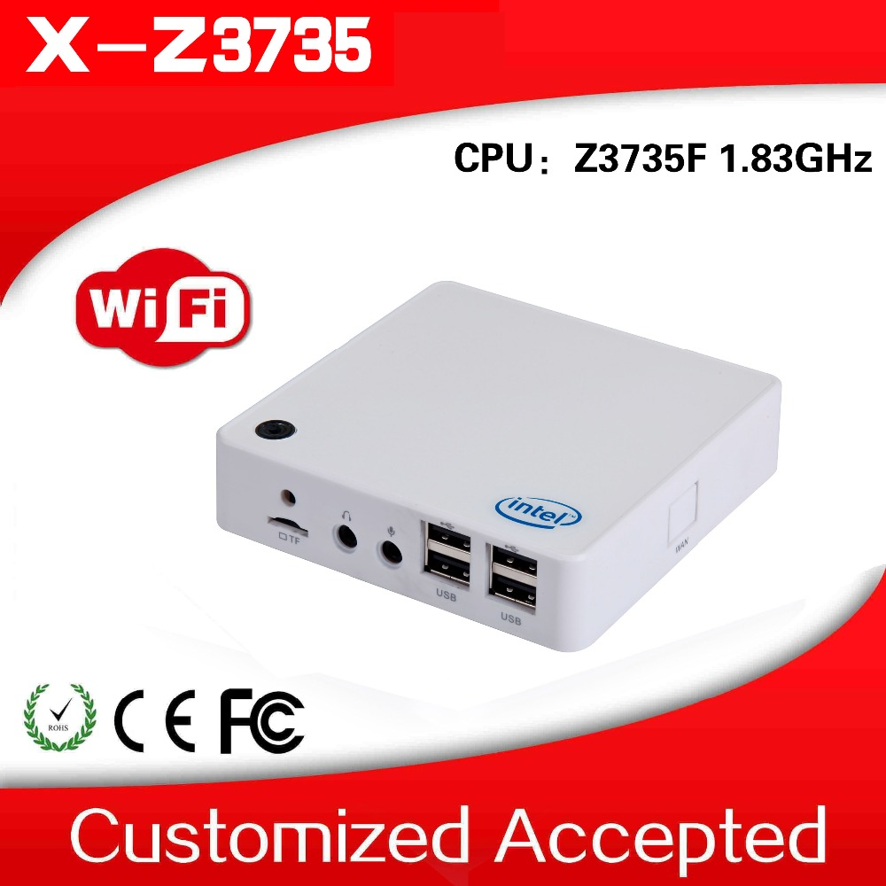XCY Hotel Computer Z3735F Atom Quad-Core 1.8Ghz Fanless Mini Host Linux Mini computer 2G RAM 32G SSD Support win8.1