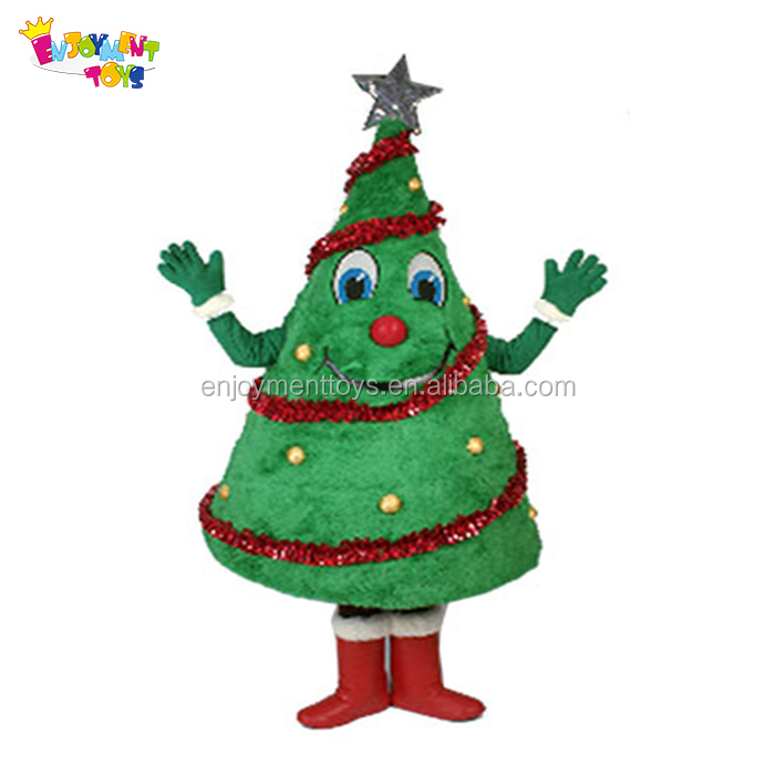 Lovely Christmas Tree costumes adult mascot,santa tree mascot for party and events