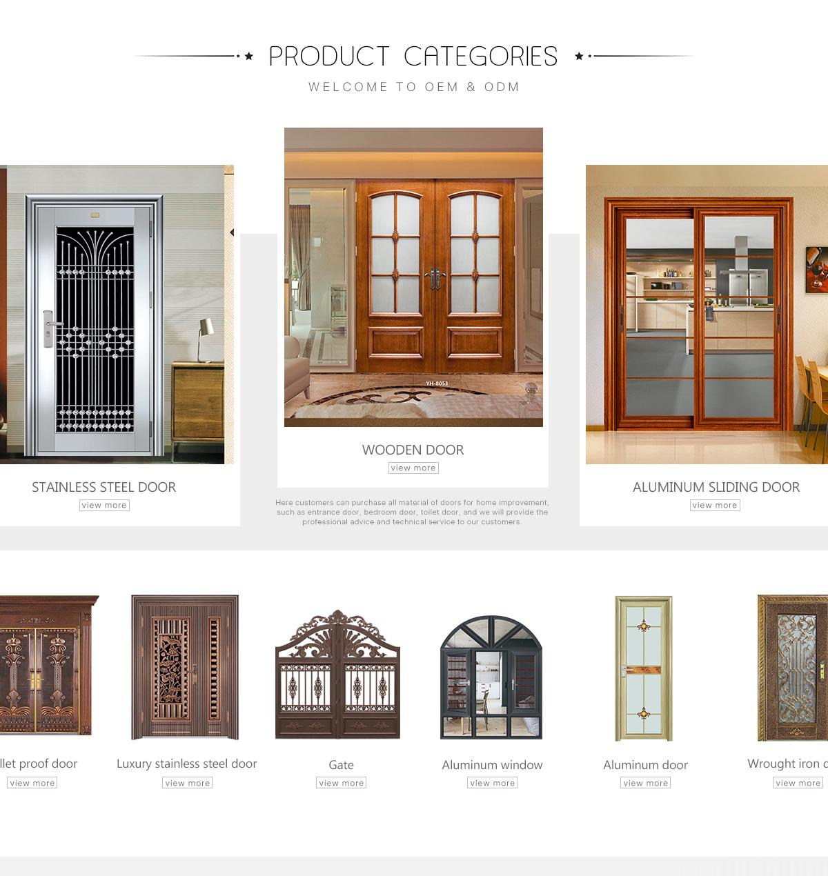 Foshan Nanhai Ditusi Doors Co Ltd Stainless Steel Door Wrought