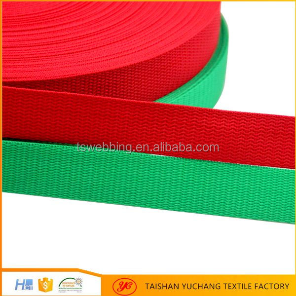 Hot selling 3/4 inch color flat nylon pp webbing
