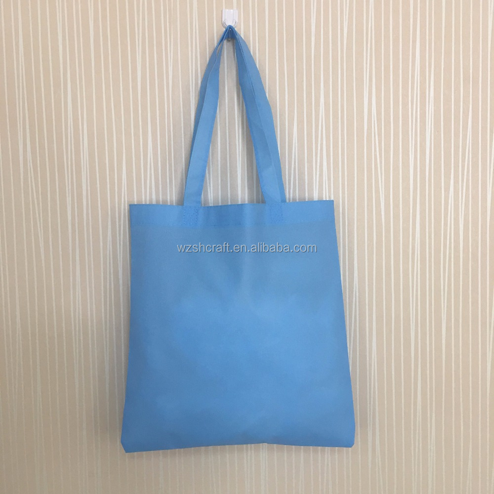 China Factory cheap wholesale sky blue reusable folding shopping bag