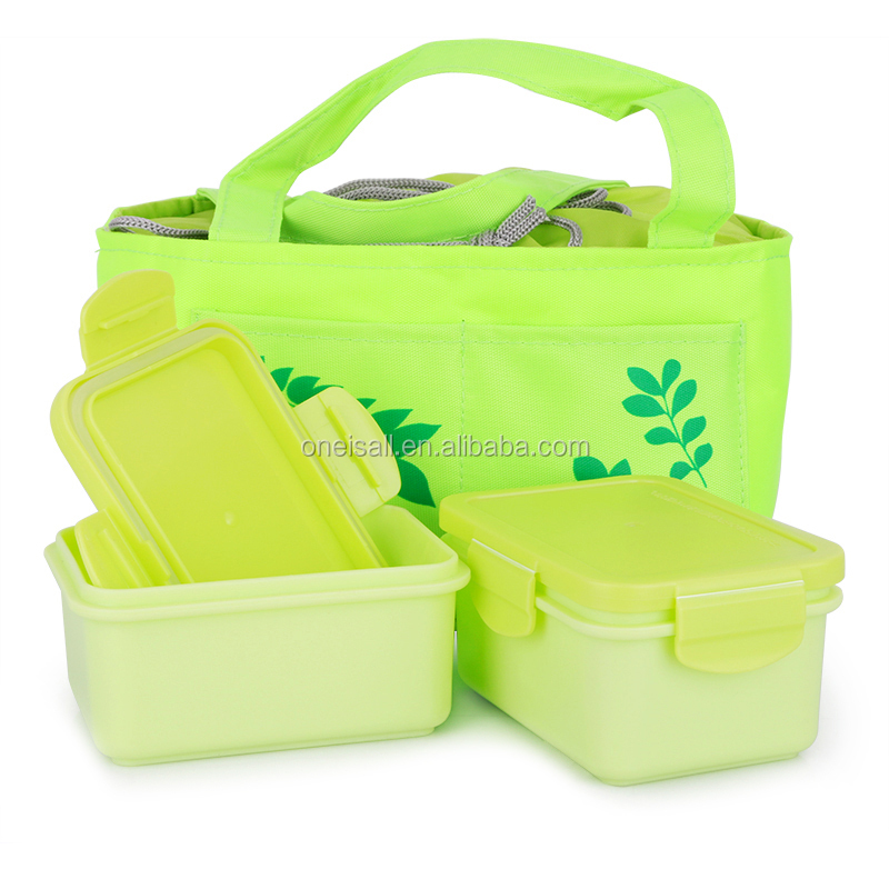 YY35270 Promotional Gift <strong>Plastic</strong> Insulated Stainless Steel Lunch Box Two Compartment Heat Retaining Food Container For Home