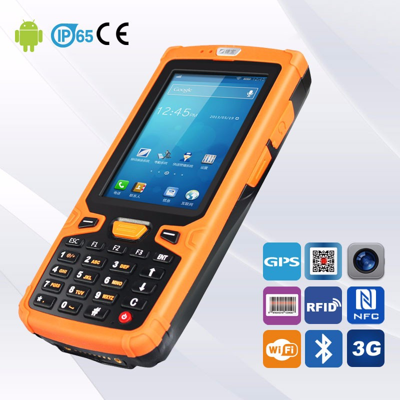 1GB+4GB Memory Rugged NFC Pda Wireless Barcode Scanner Data capture Equipment