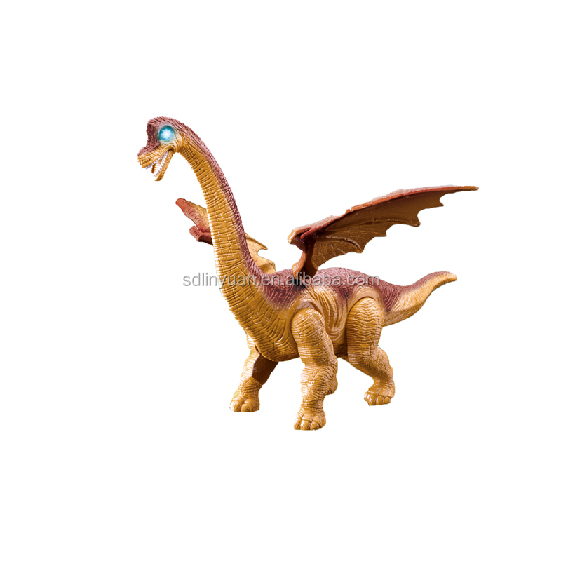 Plastic Battery Operated Electric Dinosaur Toys With Light And Sound for Kids