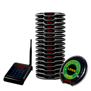 Wireless coster paging system for fast food restaurant cafe pager queue management catering device oproepsysteem horeca