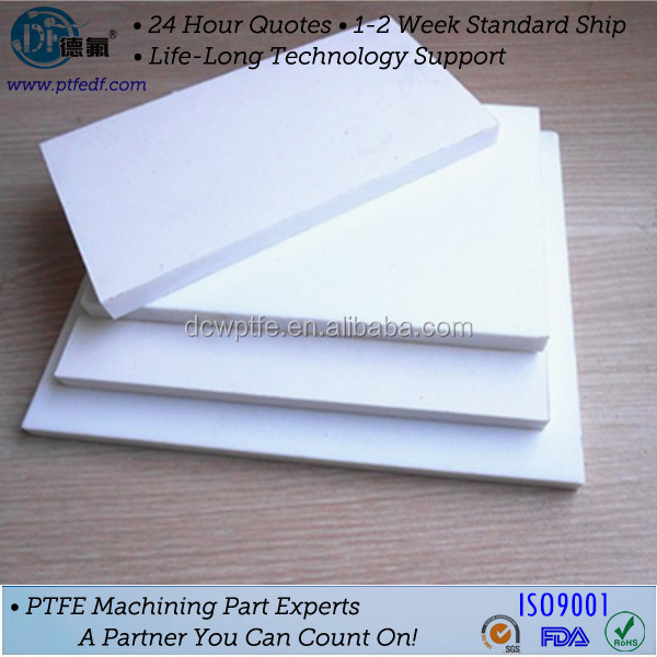 Factory price FDA and RoHS certified PTFE sheet slippery plastic