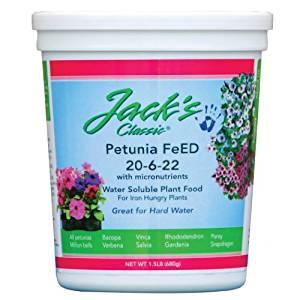 J R Peters Jacks Classic No.1.5 20-6-22 Petunia Feed by JR Peters