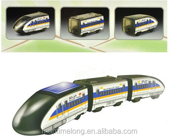Solar Power Toy Kit Educatief Hogesnelheidstreinen hogesnelheidstrein bullet train cultiveren de hands-on gave voor kinderen