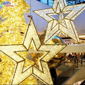new design led indoor christmas decorative giant light star