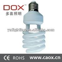 110v/220v T2 half spiral 26watt cfl lamp