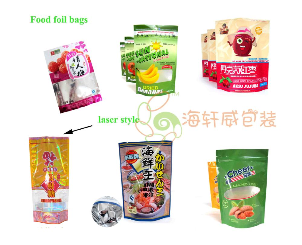matte doypack clear shaped snacks food ziplock packing pouch