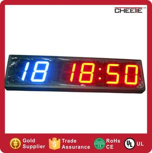 Digit Timer with 3 Meters Long Power Supply 6 Digit Countdown Timer Crossfit / Countup