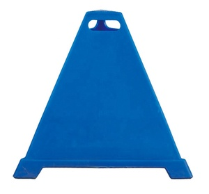 90cm High Customized Colorful PE Pyramid Cone Sign Cone